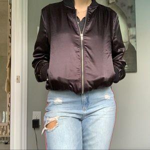 Jackets & Blazers - Silky black bomber jacket